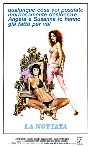 An original movie poster for the film La Nottata