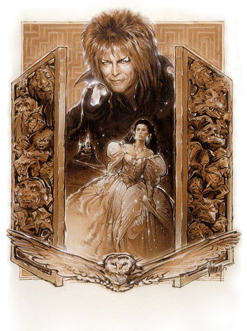 A preliminary concept art piece for Labyrinth by Steve Chorney