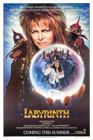 The movie poster for the film Labyrinth