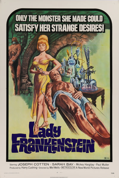 An original movie poster for the film Lady Frankenstein