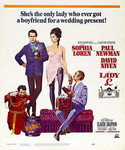 An original movie poster for the film Lady L