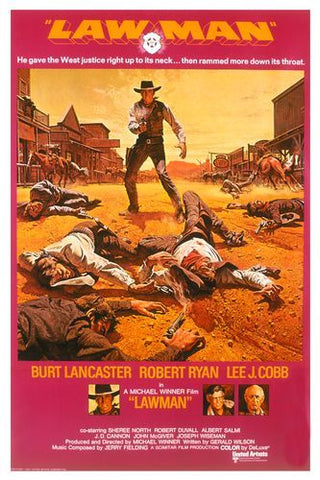 A movie poster by Frank McCarthy for the film Lawman