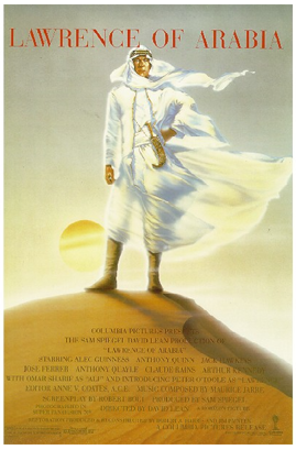 An original movie poster for Lawrence of Arabia by John Alvin