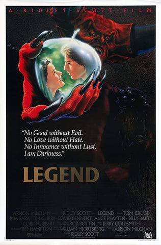 An original movie poster for the film Legend by John Alvin