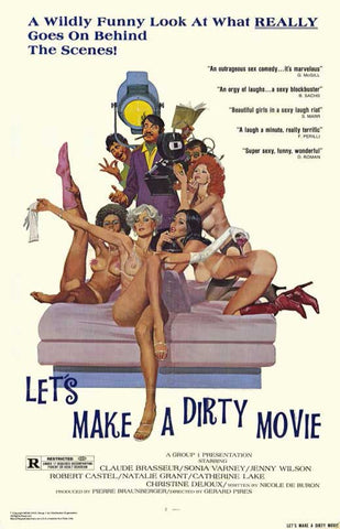 An original movie poster for the film Let's Make a Dirty Movie