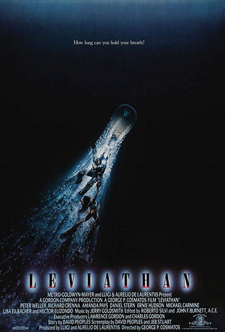 An original movie poster for the film Leviathan by John Alvin