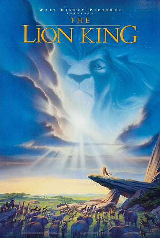 An original movie poster for the film The Lion King by John Alvin