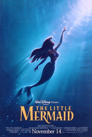 An original movie poster for the film The Little Mermaid by John Alvin