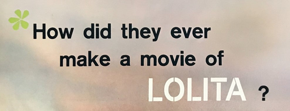 A detail from the movie / film poster for Kubrick's Lolita