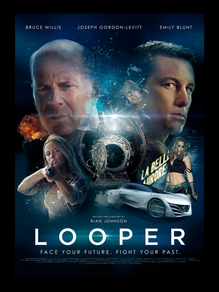 Richard Davies first comp illustration for the Looper movie poster