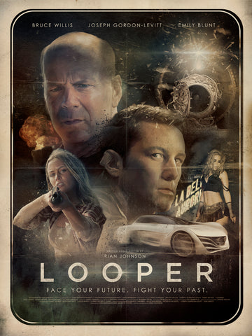 Richard Davies second draft for the movie poster for the film Looper