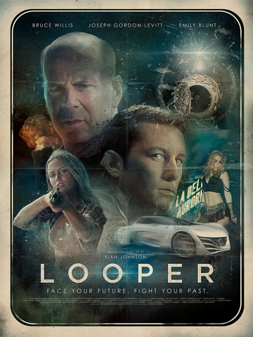 Richard Davies final movie poster for the film Looper