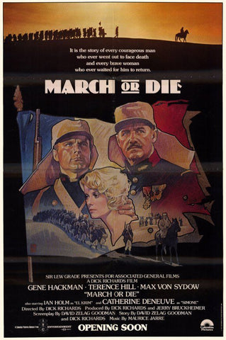 An original movie poster for the film March or Die