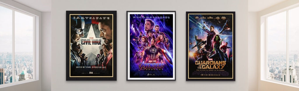 Three original movie posters from the Marvel Infinity Saga Films / Movies