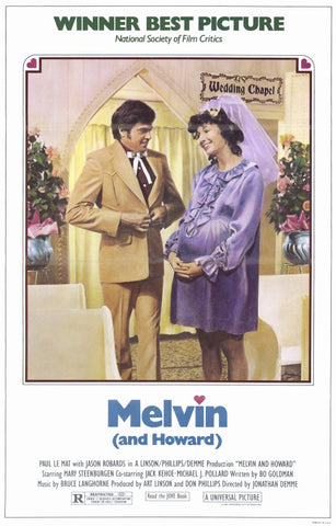 An original movie poster for the film Melvin and Howard by John Alvin