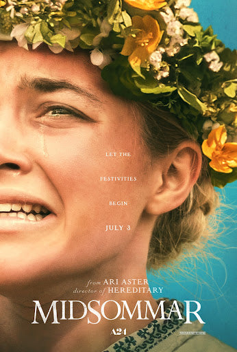 An original movie poster for the A24 film Midsommar