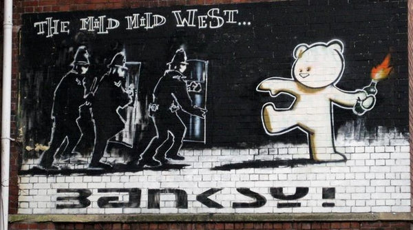 Banksy's Graffiti Mild Mild West in Bristol