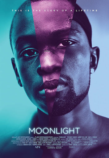 An original movie poster for the A24 film Moonlight