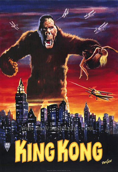 An original movie poster for the 1933 film King Kong