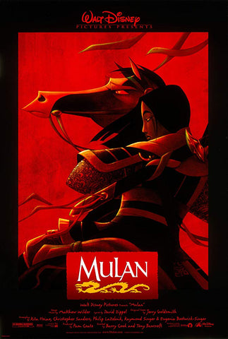 An original movie poster for the film Mulan by John Alvin