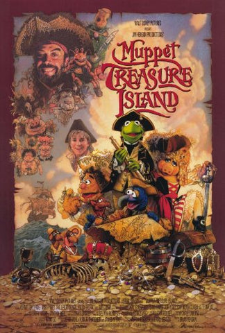 An original movie poster for the film Muppet Treasure Island