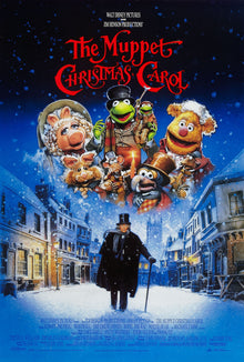 An original movie poster for the film The Muppet Christmas Carol