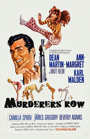 An original movie poster for the film Murderer's Row