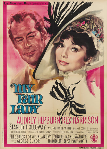 An Italian movie poster for the film My Fair Lady