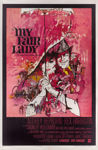 A US movie poster for the film My Fair Lady by Bob Peak