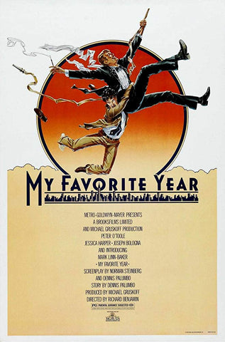 An original movie poster for the film My Favorite Year by John Alvin