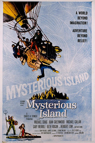 A movie poster by Frank McCarthy for the film Mysterious Island