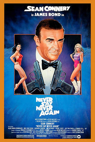 The movie poster for the 1983 James Bond film Never Say Never Again