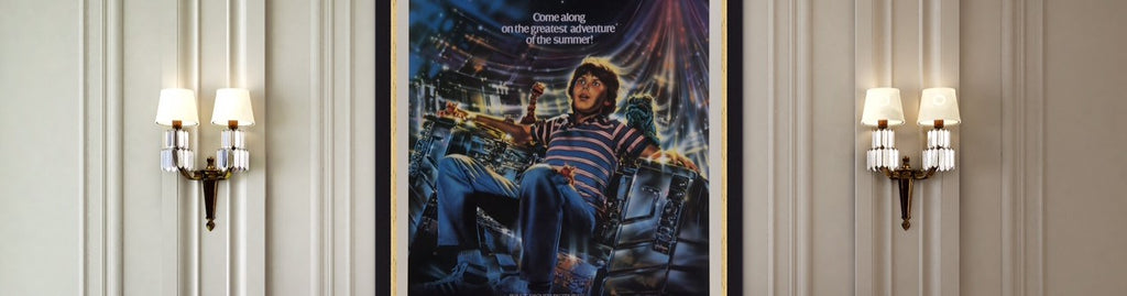 An original movie poster for Disney's Flight of the Navigator