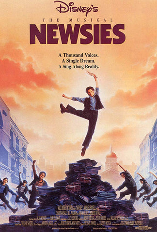 An original movie poster for the film Newsies by John Alvin