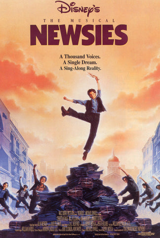 An original movie poster for the film The Newsies