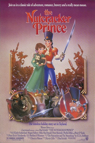 An original movie poster for the film The Nutcracker Prince by John Alvin