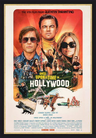 The movie poster for Once Upon a Time in Hollywood by Steve Chorney