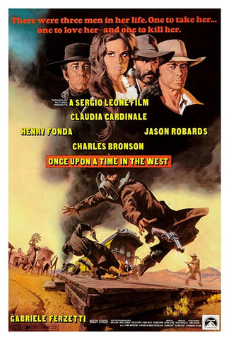 A movie poster by Frank McCarthy for the film Once Upon A Time In The West