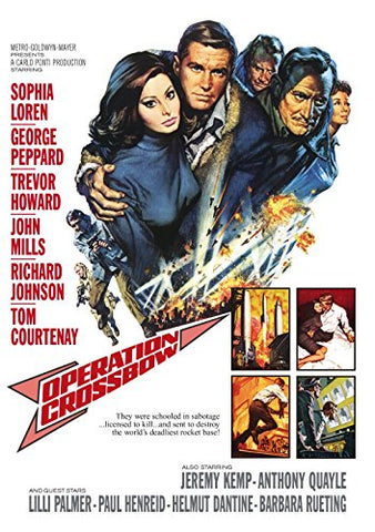 A movie poster by Frank McCarthy for the film Operation Crossbow