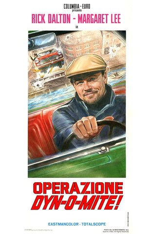 Steve Chorney's movie poster for the fictional film Operazione Dynomit from Once Upon A Time on Hollywood