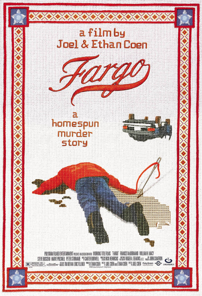 An original movie poster for the Coen Brothers film Fargo