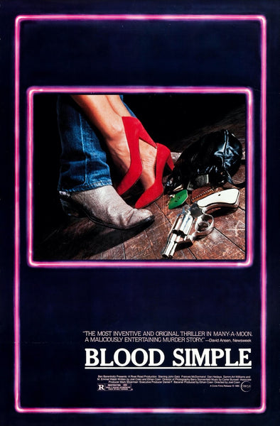 Original One Sheet Movie Poster for the film Blood Simple