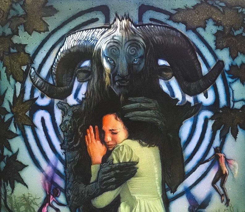 A close up from Drew Struzan's unused movie poster for the film Pan's Labyrinth