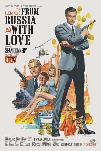 An unofficial movie poster for the James Bond film From Russia With Love by Paul Mann