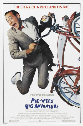 An original movie poster for the film Pee Wee's Big Adventure by John Alvin