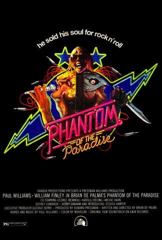An original movie poster for Phantom of the Paradise by John Alvin