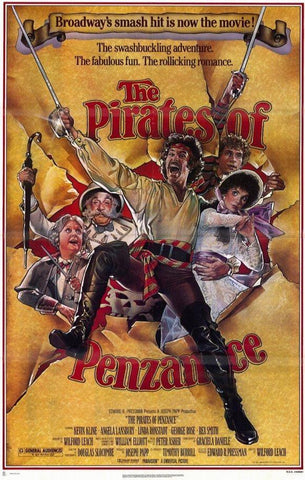 An original movie poster for the film The Pirates of Penzance
