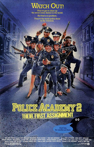 An original movie poster for the film Police Academy 2