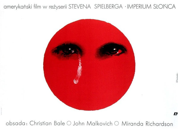 An original Polish movie poster for an English language film of the second half of the twentieth century