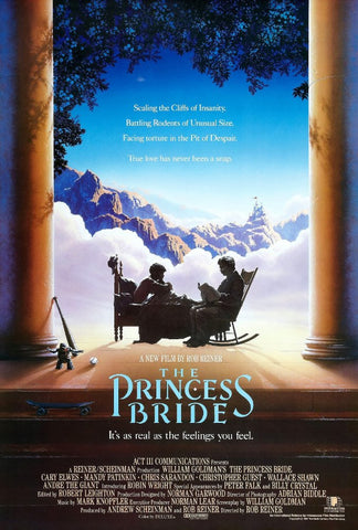 An original movie poster for the film The Princess Bride by John Alvin